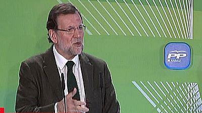 Rajoy insta a Andalucía a subirse al carro de las políticas del PP