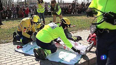 Un simulacro pone a prueba al personal sanitario del Hospital de Talavera