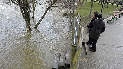 Activado el nivel de preemergencia en Navarra por un fuerte temporal de agua y nieve