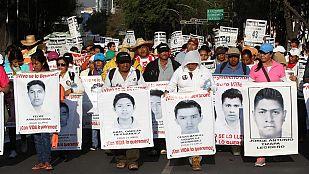 Protestas en México cinco meses después de la desaparición de los 43 estudiantes de Iguala