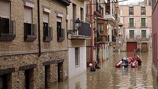 La crecida del río Ebro ha anegado unas 20.000 hectáreas en Aragón