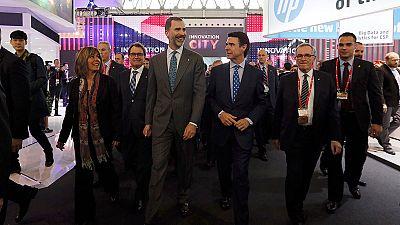 El rey inaugura el Congreso de Móviles, donde se esperan 90.000 asistentes
