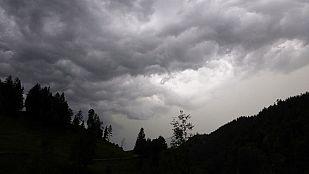 Precipitaciones en el área cantábrica, Alto Ebro, Pirineos, este de Baleares y nordeste de Cataluña