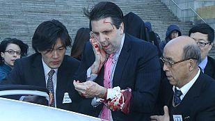 El embajador de EE.UU. en Corea del Sur, atacado con un cuchillo en Seúl