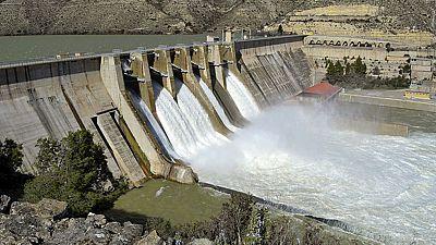 Los embalses de la Cuenca del Ebro se sitúan al máximo de su capacidad