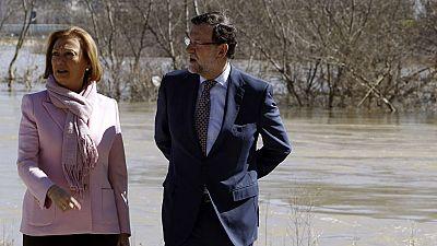"""El presidente del Gobierno ha garantizado """"rapidez"""" en las ayudas para paliar los daños por la crecida del Ebro"""