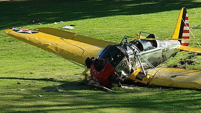 Un videoaficionado grabó las imágenes del accidente de Harrison Ford