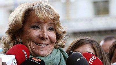 Esperanza Aguirre no será presidenta del PP de Madrid si es elegida alcaldesa de la capital