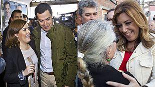 """Los reproches por iniciar la """"guerra sucia"""" y el postdebate marcan la campaña de las andaluzas"""