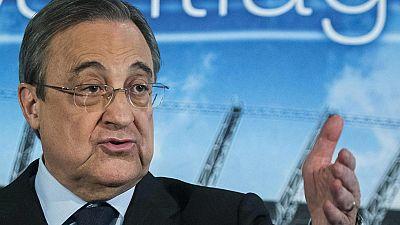 """El presidente del Real Madrid, Florentino Pérez, ha comparecido para ratificar a Carlo Ancelotti como técnico y, de paso, responder a los """"ataques desproporcionados"""" que en su opinión está sufriendo el club."""