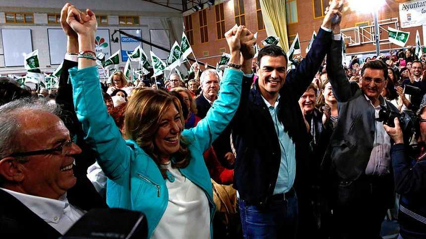 """El PSOE busca """"forjar una alianza"""" en Sevilla y Madrid y el PP denuncia que se saque """"el cuento del miedo"""""""