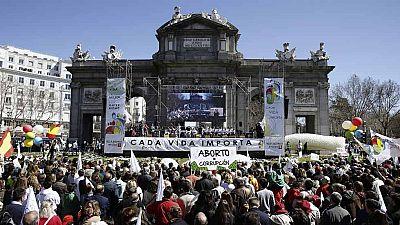 Manifestación en Madrid en contra del aborto