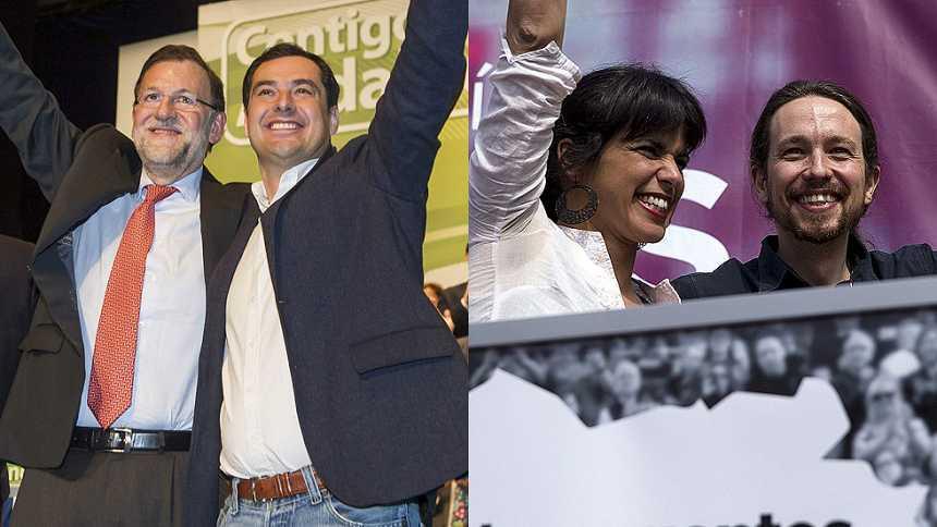 PP, PSOE y Podemos cruzan acusaciones en la campaña electoral