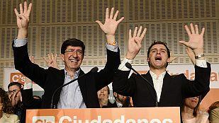 Albert Rivera declara la muerte del bipartidismo y descarta entrar en la Junta de Andalucía