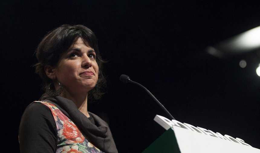 """Teresa Rodríguez (Podemos): """"Las dos grandes fuerzas del bipartidismo han caído"""""""
