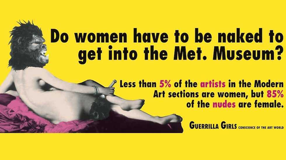 Resultado de imagen de guerrilla girls