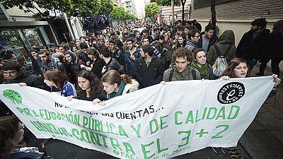 Segunda huelga educativa del año contra el decreto 3+2
