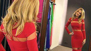 Edurne visita el atelier de Jose Fuentes para conocer detalles del vestido que llevará a Eurovisión