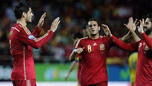 Morata adelanta a España con algo de suerte (1-0)
