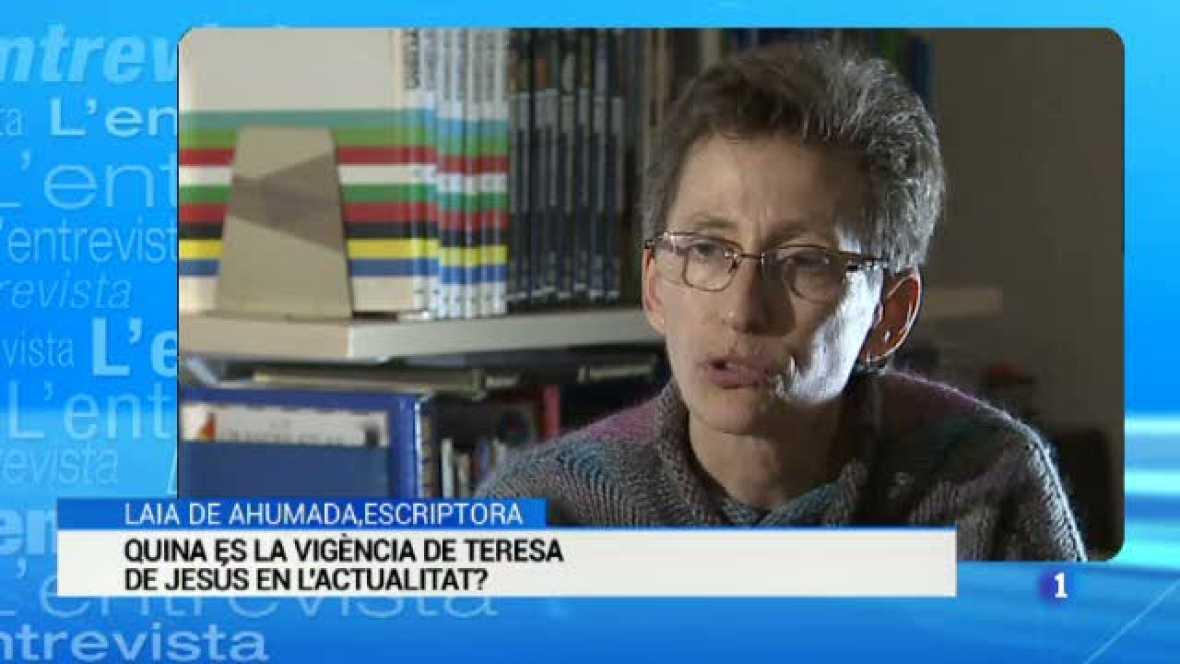 L'Entrevista de l'Informatiu Cap de Setmana: Laia Ahumada, escriptora i filòloga especialista en l'obra de Santa Teresa de Jesús