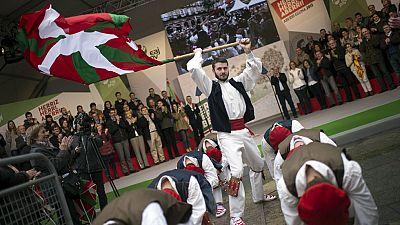 Los nacionalistas vascos celebran el Aberri Eguna, el Día de la Patria Vasca