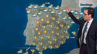 Chubascos fuertes y bajada de temperaturas en el área pirenaica