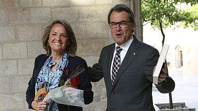 Artur Mas reivindica la unidad de Cataluña en el día de Sant Jordi