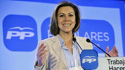 """Cospedal asegura que lo que se ha firmado en Murcia es un pacto """"para la quiebra"""""""