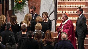 Un emotivo y multitudinario funeral en Barcelona homenajea a las víctimas del avión de Germanwings
