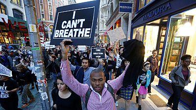 Las protestas y los disturbios raciales originados en Baltimore se extienden a otras ciudades Como Nueva York