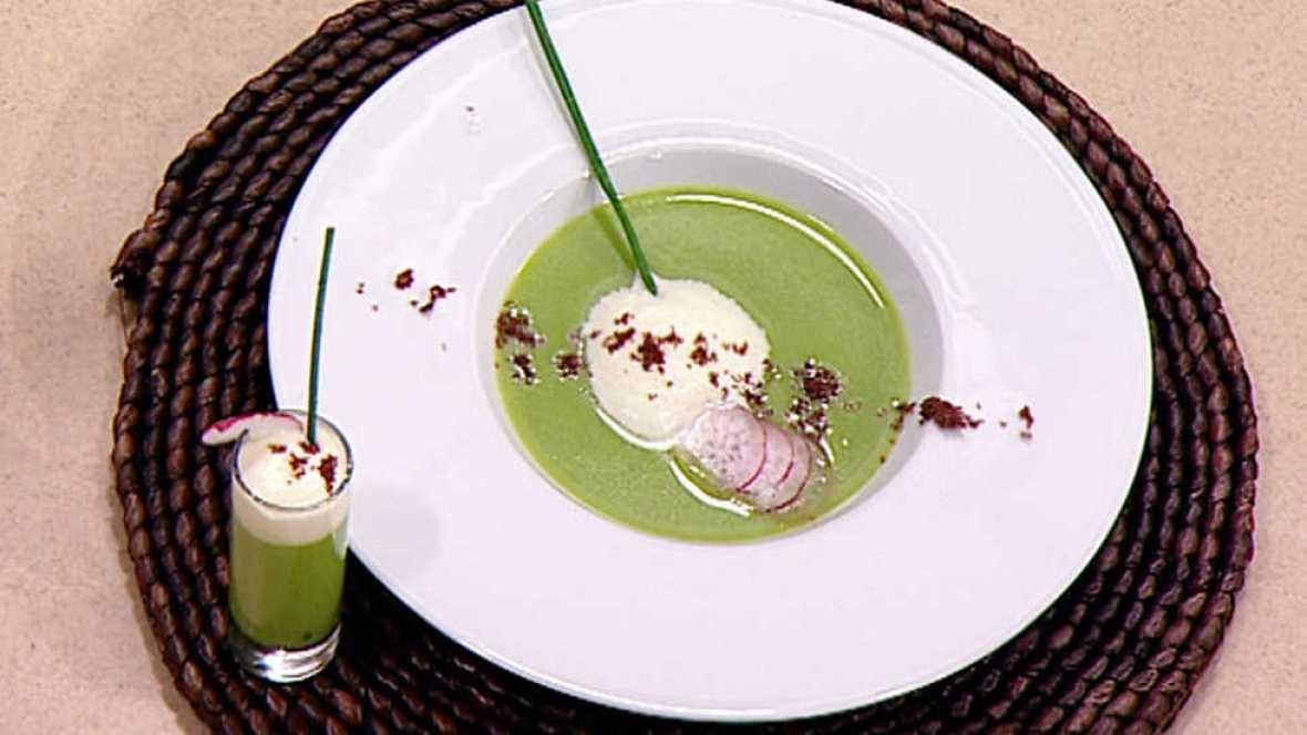 Cocina con sergio crema de guisantes con espuma de - Cocina con sergio pepa ...