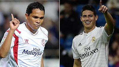 James y Bacca, dos colombianos que triunfan en el fútbol español