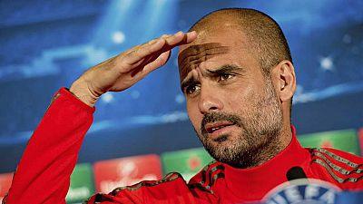 """El entrenador del Bayern de Múnich, Pep Guardiola, ha hablado de su exequipo, el FC Barcelona, contra el que se enfrenta en semifinales de Champions, y ha asegurado que """"ellos parte con ventaja porque me conocen y yo no puedo controlar su talento"""". E"""