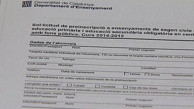 El Gobierno pide ante el TSJC un nuevo período de matriculación escolar en Cataluña