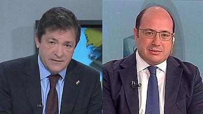 Entrevistas electorales a Javier Fernández, candidato del PSOE por Asturias y a Pedro Antonio Sánchez candidato del Partido Popular por Murcia