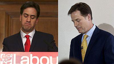 Miliband y Clegg dimiten tras la derrota de laboristas y liberales