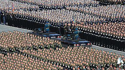 Desfile militar en Moscú por los 70 años de la victoria sobre la Alemania nazi