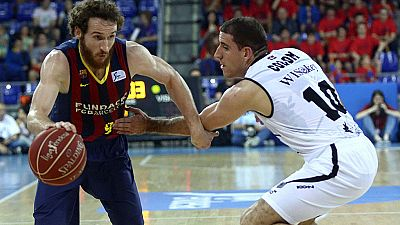 El Barcelona dominó todo el partido contra el Dominion Bilbao Basket, al que derrotó por 80-73.