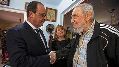 Hollande ofrece a los Castro su apoyo para el fin del embargo en su histórica visita a Cuba