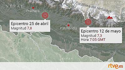 El nuevo terremoto de Nepal no es una réplica del de abril, según los sismólogos
