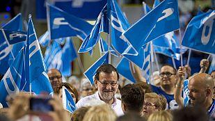 """Rajoy alerta del riesgo de """"volver atrás"""" y Sánchez afirma que el PSOE """"es la izquierda que puede ganar"""" al PP"""