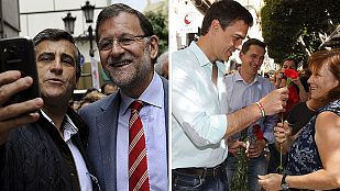 Rajoy y Sánchez, en el ecuador de la campaña