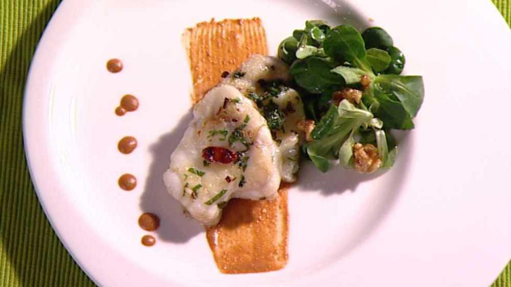 Cocina con Sergio - Rape con salsa de �oras y nueces - ver ahora