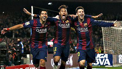 Luis Enrique está cerca de repetir el triplete y si lo consigue, mucha culpa en ello tendrá el trío de delanteros formado por Lionel Messi, Neymar y Luis Suárez.