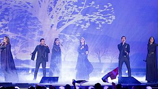 "Eurovisión 2015 - Semifinal 1 - Armenia: Genealogy canta ""Face the shadow"""