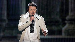 "Eurovisión 2015 - Semifinal 1 - F.Y.R. Macedonia: Daniel Kajmakoski canta ""Auttun Leaves"""