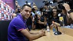 Champions League - Rueda de prensa de Xavi Fernández, FC Barcelona