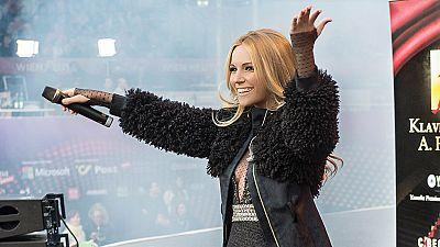 Edurne actu� este mi�rcoles en la Big Five Party, el tradicional concierto en el Eurovision Village situado en el Ayuntamiento de Viena.