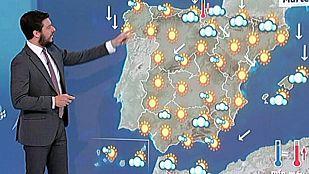 Ascenso de temperaturas en Meseta y Andalucía, y lluvias en Melilla