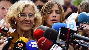 Manuela Carmena se muestra confiada en ser la alcaldesa de Madrid